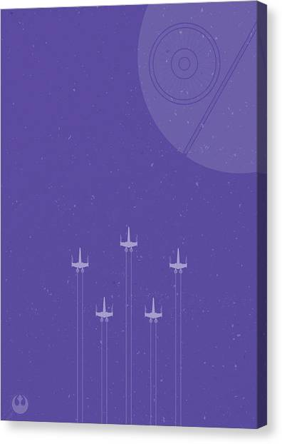 Winged Canvas Print - X-wing Attack by Samuel Whitton