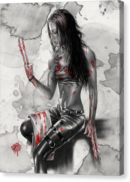 Pin-up Canvas Print - X23 by Pete Tapang