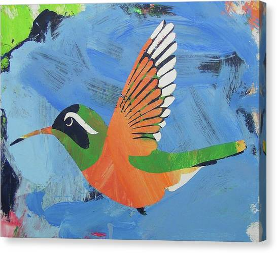 Canvas Print featuring the painting Xantus Hummingbird by Candace Shrope