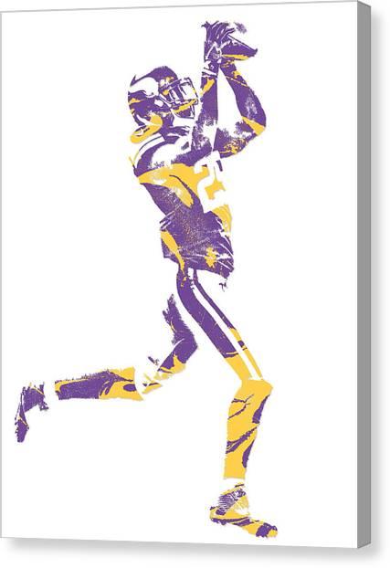 Minnesota Vikings Canvas Print - Xavier Rhodes Minnesota Vikings Pixel Art 3 by Joe Hamilton