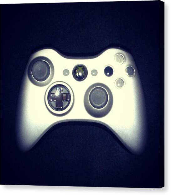 Gaming Consoles Canvas Print - Silver Shot by Alison LaPlante