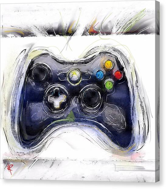 Xbox Canvas Print - Xbox Thrills by Russell Pierce
