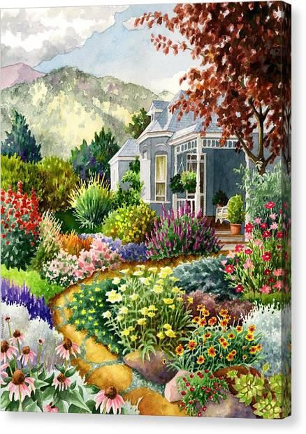 Colorado Rockies Canvas Print - Xeriscape Garden by Anne Gifford