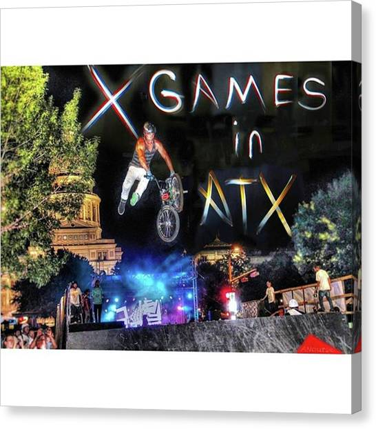 Bicycle Canvas Print - #xgames In #atx Again Soon! It Will by Andrew Nourse