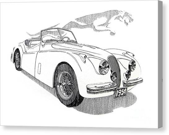 Jaguar Classic Car Canvas Prints Page 38 Of 54