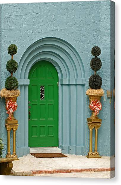 Xmas Door Canvas Print
