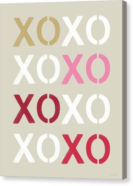 Wedding Canvas Print - Xoxo- Art By Linda Woods by Linda Woods