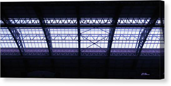 Bullet Trains Canvas Print - X's, V's , M's And W's by Claudia O'Brien