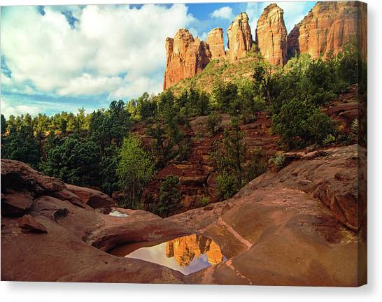 Reflection At Seven Sacred Pools Canvas Print