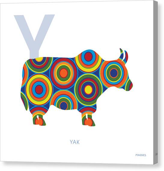 Yak Canvas Print - Y Is For Yak by Ron Magnes