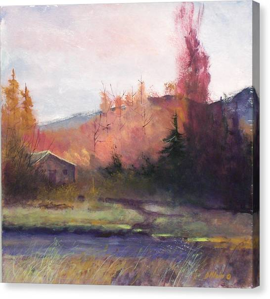 Yaak Cabin Canvas Print by Dalas Klein
