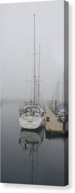 Yacht Doesn't Go In The Fog Canvas Print