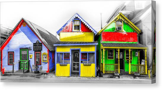 Canvas Print featuring the photograph Yacht Street Cape May In Technicolor by Bill Cannon