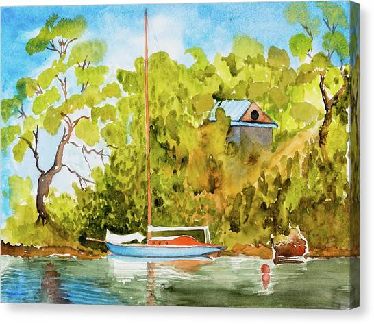 Yacht Weene' In Barnes Bay  Canvas Print