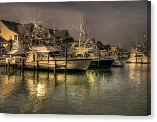 Yachts In Hdr Canvas Print