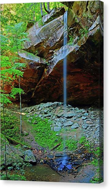 Big South Canvas Print - Yahoo Falls by Ben Prepelka