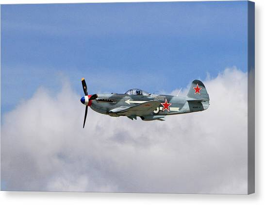 Wii Canvas Print - Yak-1 In The Clouds by Shoal Hollingsworth