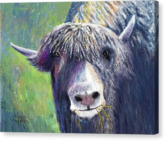 Yaks Canvas Print - Yakity Yak by Arline Wagner