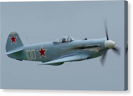 Yaks Canvas Print - Yakovlev Yak-3 by Maye Loeser