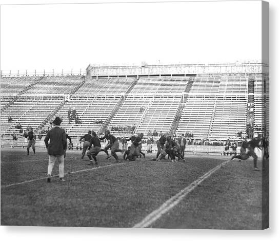 Yale Canvas Print - Yale Football Practice 1913 by Underwood Archives