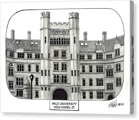 Vanderbilt University Canvas Print - Yale by Frederic Kohli