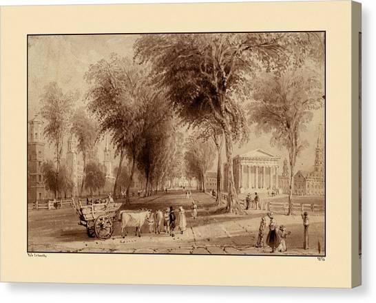 Yale University Canvas Print - Yale University 1836 by Andrew Fare