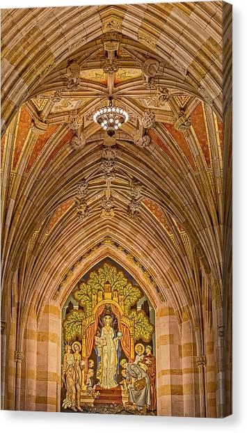 Yale University Canvas Print - Yale University Alma Mater by Susan Candelario