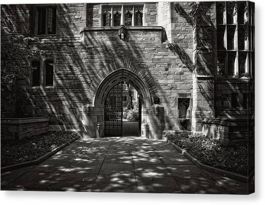 Yale University Canvas Print - Yale University - Memorial Quadrangle Gate by Mountain Dreams