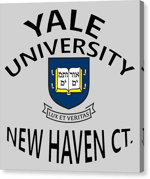 Yale University Canvas Print - Yale University New Haven Connecticut  by Movie Poster Prints