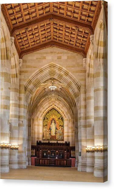 Yale University Canvas Print - Yale University Sterling Memorial Library by Susan Candelario
