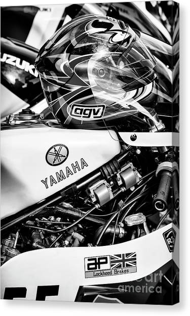 Yamaha Canvas Print - Yamaha Racing by Tim Gainey