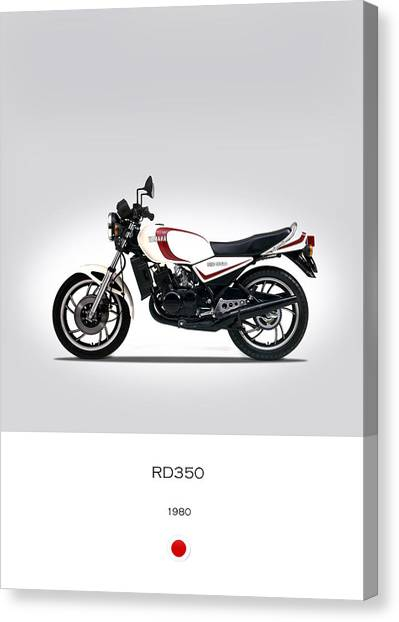 Yamaha Canvas Print - Yamaha Rd350 1980 by Mark Rogan