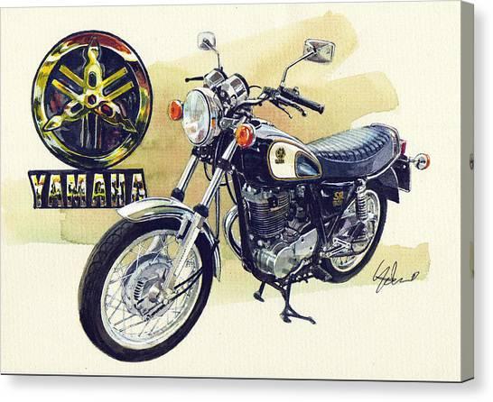 Yamaha Canvas Print - Yamaha Sr500 by Yoshiharu Miyakawa