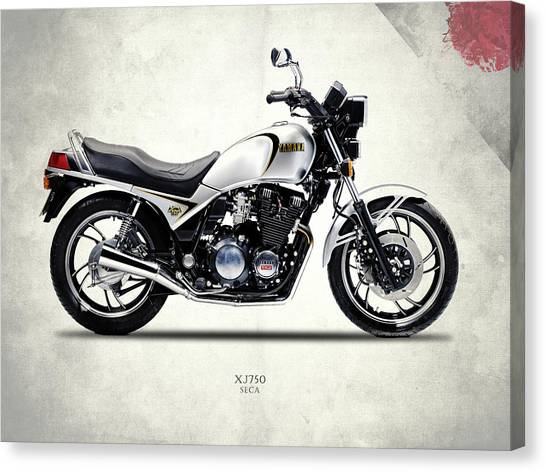Yamaha Canvas Print - Yamaha Xj750 1984 by Mark Rogan