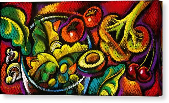Sandwich Canvas Print - Yammy Salad by Leon Zernitsky