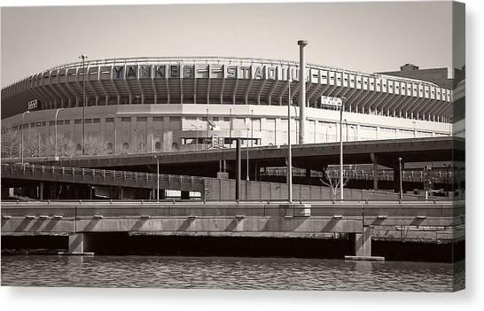 Babe Ruth Canvas Print - Yankee Stadium    1923  -  2008 by Daniel Hagerman