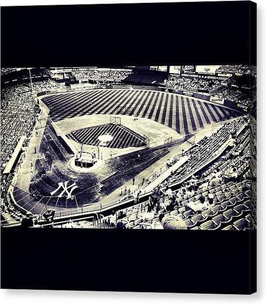 Baseball Teams Canvas Print - Yankee Stadium by Michael Oneill
