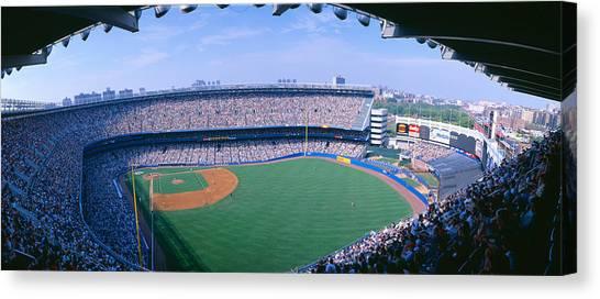 Pitching Canvas Print - Yankee Stadium Ny Yankees V. Tampa by Panoramic Images