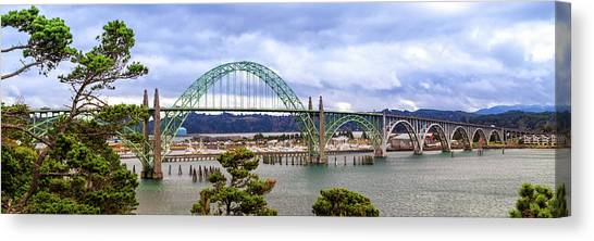 Yaquina Bay Bridge Panorama Canvas Print