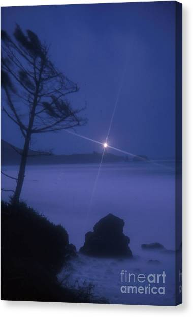 Yaquina Head At Night Canvas Print