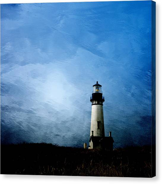 Lighthouses Canvas Print - Yaquina Head Lighthouse by Carol Leigh