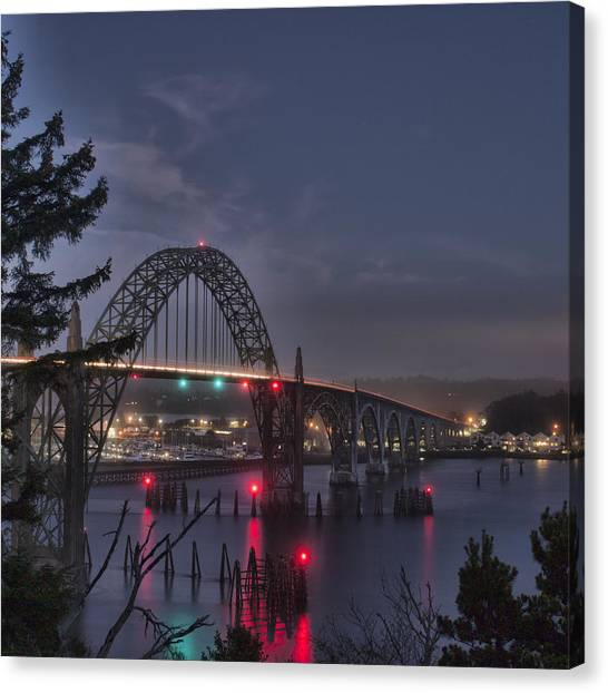 Yaquina Night Crossing Canvas Print
