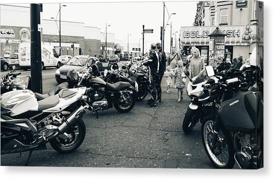 Yarmouth Bikers Canvas Print