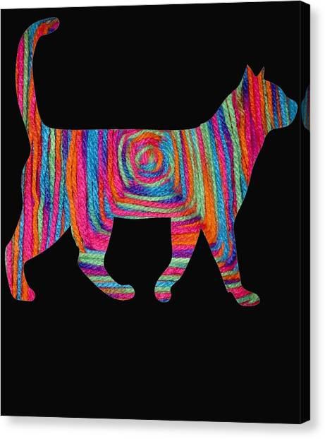 Ocicats Canvas Print - yarn Squart cat by Kaylin Watchorn