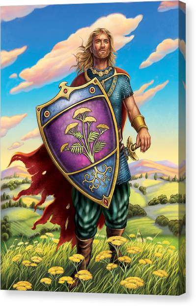 Yarrow - Protective Shield Canvas Print