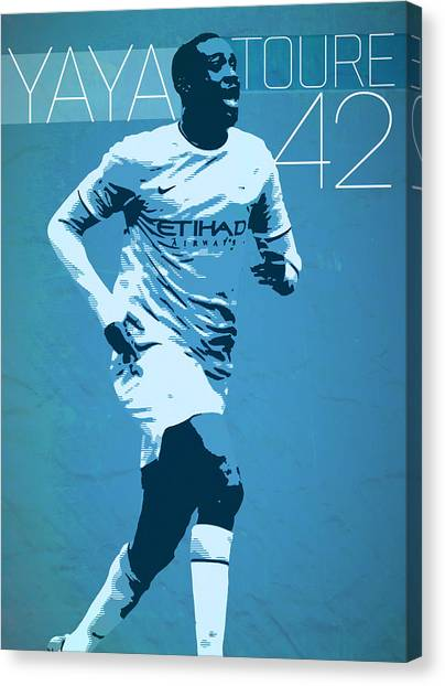 Mls Canvas Print - Yaya Toure by Semih Yurdabak