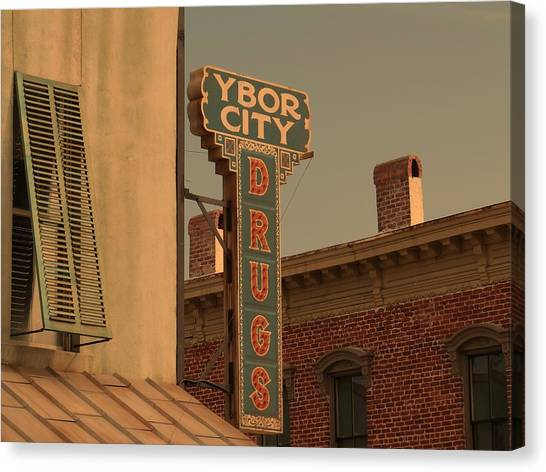 Ben Affleck Canvas Print - Ybor City Drugs by Robert Youmans