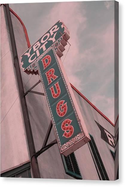 Ben Affleck Canvas Print - Ybor City Drug by Robert Youmans
