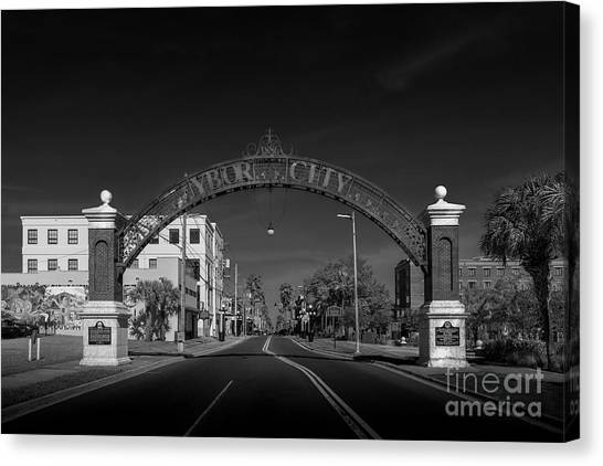 Trolley Canvas Print - Ybor City Entry by Marvin Spates