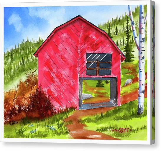 Ye Olde Barn Canvas Print